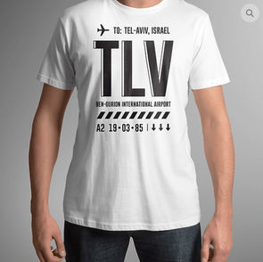 TLV - Airport Tag T-shirt