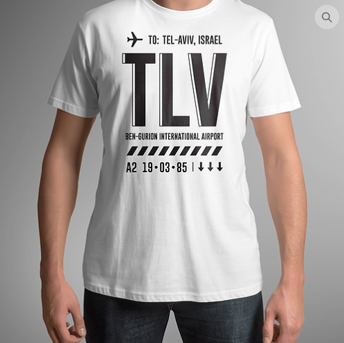 TLV - Airport Tag T-shirt - ModernTribe