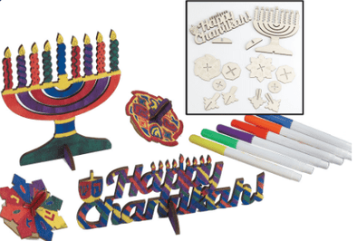 DIY Hanukkah Wood Craft Kit