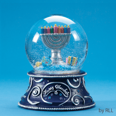 Musical Hanukkah Snow Globe, Plays Maoz Tzur