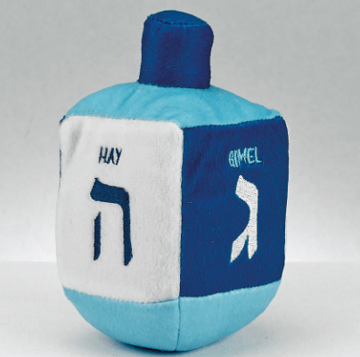 Plush Blue and White Musical Dreidel