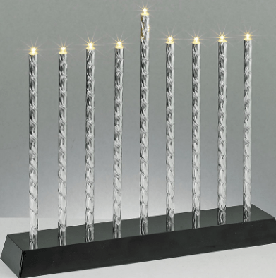 Diamond Cut Electric Menorah