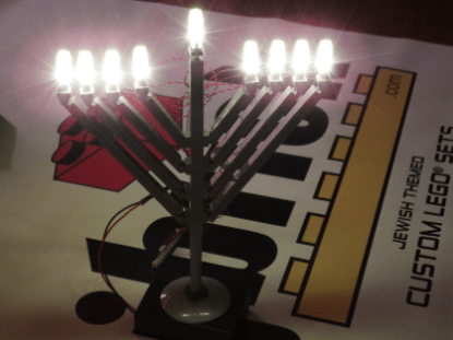 LED Deluxe Light Kit for LEGO® Menorah