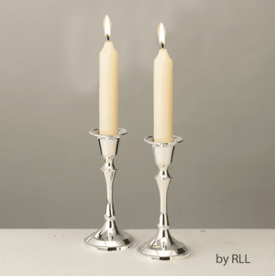 Silver-Plated Shabbat Candleholders