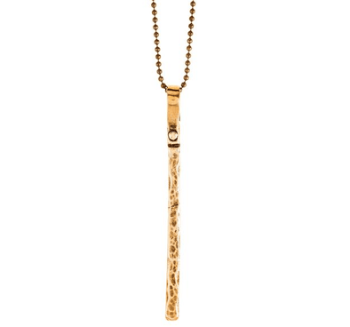 Long Bar Necklace in Bronze by Marla Studio