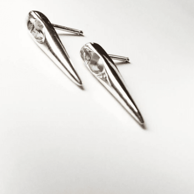 Needle Earrings - Silver