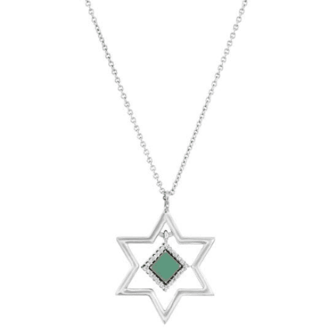 Star of David Nano-Chip Pendant Necklace