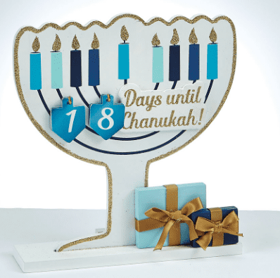Wood Chanukah Countdown