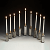 Modular Pewter Menorah by Joy Stember