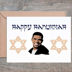 Star of Drake Happy Hanukkah Card, Box of 6
