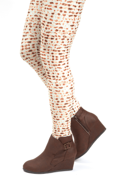 Matzah Print Leggings (Adult Sizes) - ModernTribe