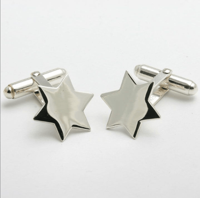 Sterling Silver Star of David Cufflinks - ModernTribe