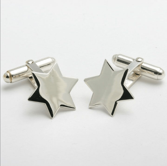 Sterling Silver Star of David Cufflinks
