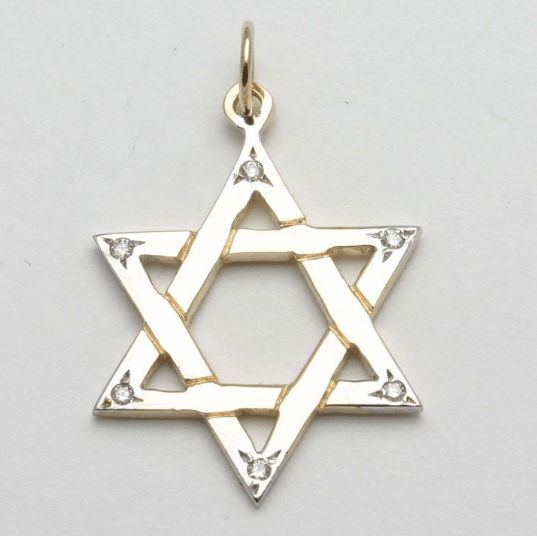 Bareket Jewelry Necklaces 14k Gold and Diamond Star of David Pendant