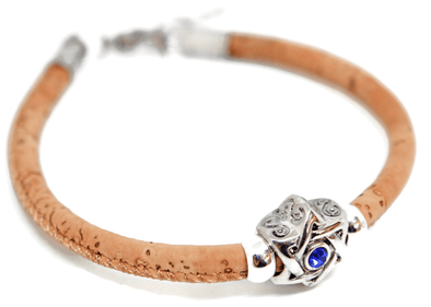 Swarovski Star of David Woven Cork Bracelet