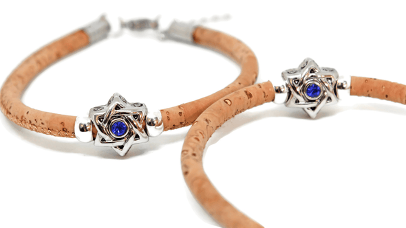 Swarovski Star of David Cork Bracelet