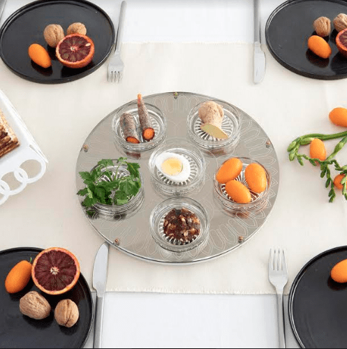 Modern Gold Seder Plate by Studio Armadillo
