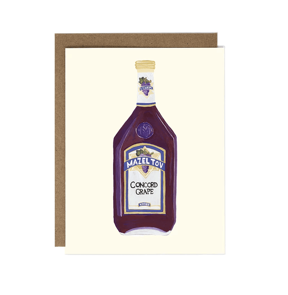Mazel Tov Wine Greeting Cards, Set of 5
