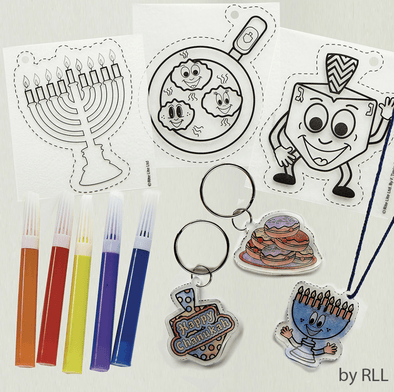 Rite Lite Toy Chanukah Shrink Art, Makes 6 Assorted Designs