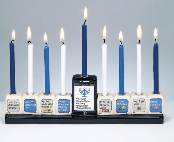 Texting Hand-Painted Menorah - ModernTribe