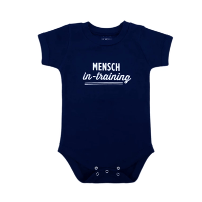 Mensch-in-Training Navy Blue Onesie