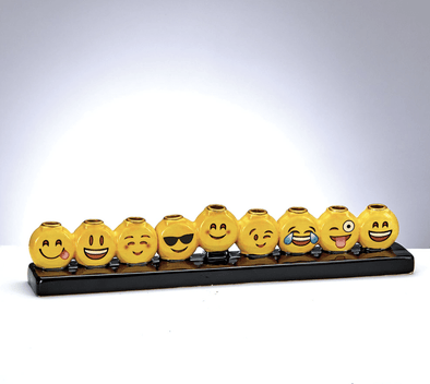 Emoji Hand-Painted Menorah