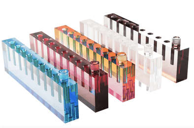 Acrylic Oil Menorah - (Choice of Colors)