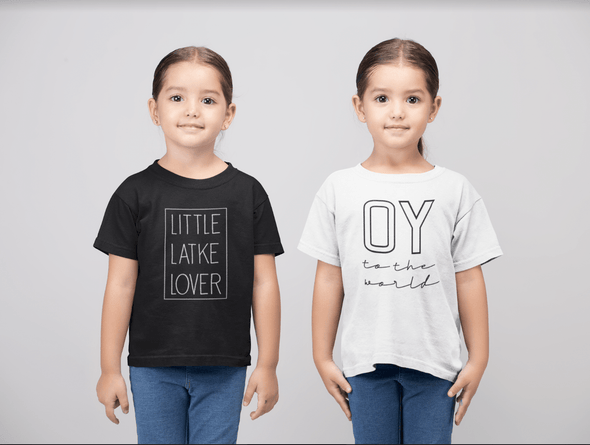 Oy to the World T-Shirt - Baby and Kid Sizes