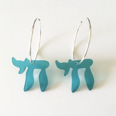 Blue Chai Acrylic Hoop Earrings - ModernTribe