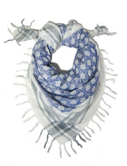 Semitic Keffiyeh Scarf in Blue by Shemspeed Records - ModernTribe - 1