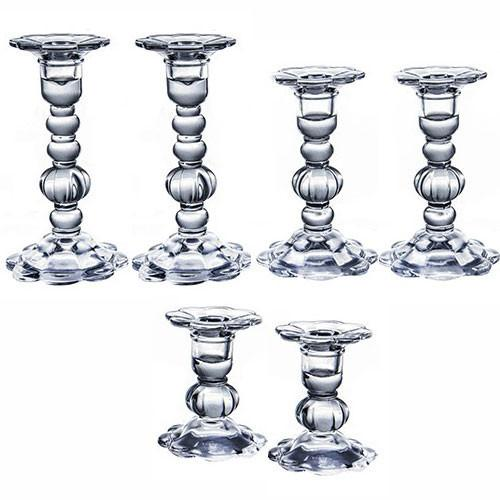 Other Candlesticks 8.5 Glass Shabbat Candlesticks