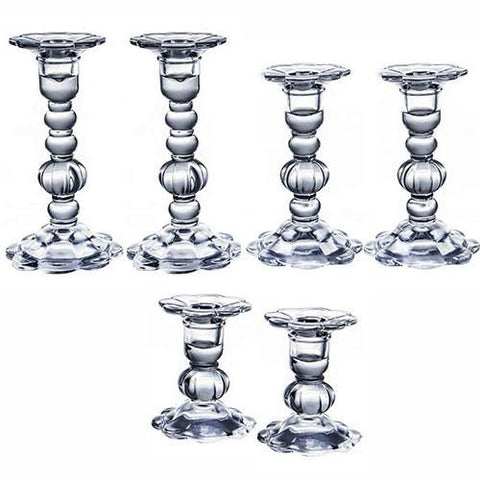Glass Shabbat Candlesticks by Other - ModernTribe
