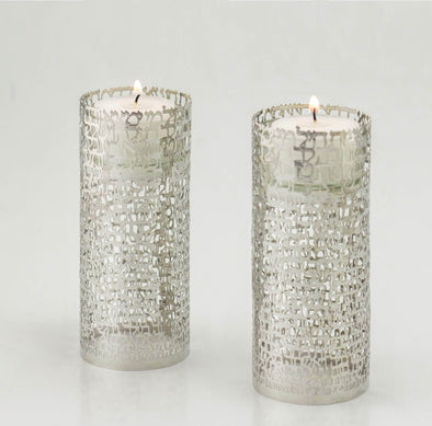 Women of Valor Candleholders - White Gold