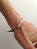 Curved Bar Bracelet in Silver by Marla Studio by Marla Studio - ModernTribe - 2