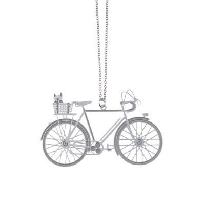 Polli Pendant Silver Bicycle Stainless Steel Pendant by Polli