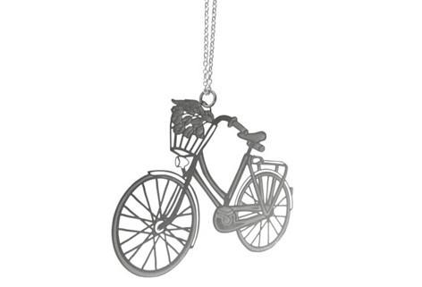 Polli Pendant Gold Bicycle Gold Plated Stainless Steel Pendant by Polli
