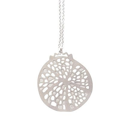 Polli Pendant Silver Pomegranate Stainless Steel Pendant by Polli
