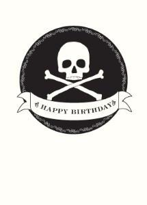 Skull Flag - Happy Birthday Greeting Card by Seltzer Goods - ModernTribe
