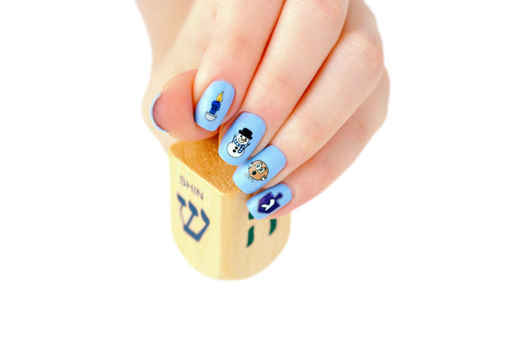 Maccabean Manicures Hanukkah Nail Decals by Midrash Manicures - ModernTribe - 6
