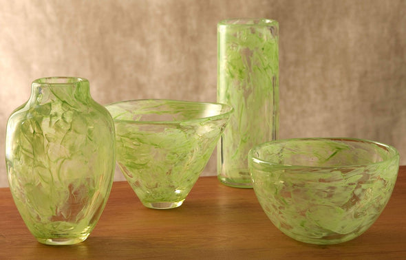 Brights! Wedding Glass Heirloom Vases, Bowls, or Mezuzah Cover by Mazel Tov Glass - ModernTribe - 6