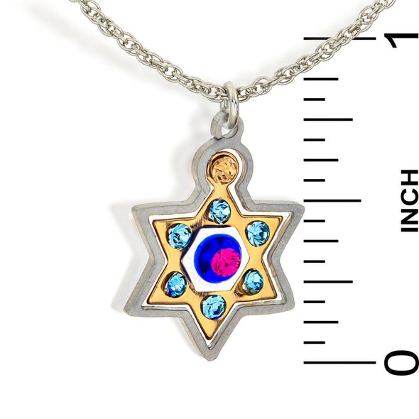 Seeka Colorful Star of David with Crystals by Seeka - ModernTribe - 3