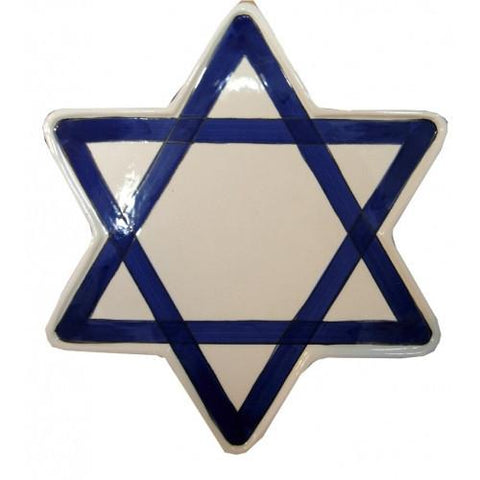 Star of David Ceramic Plate by Davida - ModernTribe