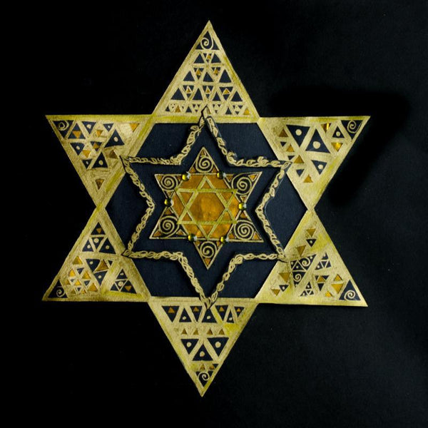 Susan Moffitt Decoration Regal Star Paper Cut Star of David Art