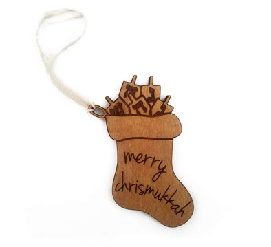 Chrismukkah Stocking Ornament