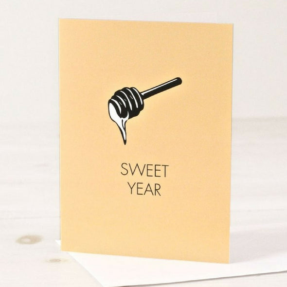Sweet Year - Rosh Hashanah Greeting Card by Chai and Home - ModernTribe - 1