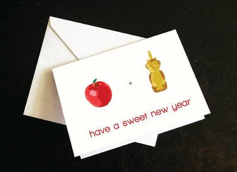 Have a Sweet New Year - Rosh Hashanah Greeting Card by Silly Reggie - ModernTribe