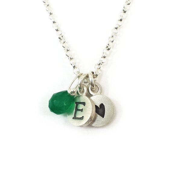Personalized Tiny Dot Necklace with Gemstones by Emily Rosenfeld - ModernTribe - 2