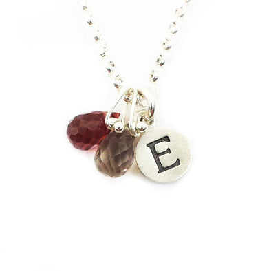 Personalized Tiny Dot Necklace with Gemstones by Emily Rosenfeld - ModernTribe - 1