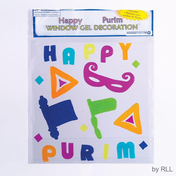 Rite Lite Decoration Happy Purim Window Decals