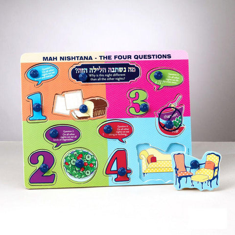 Mah Nishtana (What Has Changed?) Wood Puzzle - Ages 3+ by Rite Lite - ModernTribe